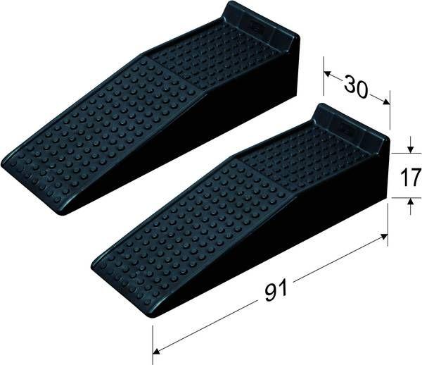 auffahrrampe aus kunststoff 2tlg. Black Bedroom Furniture Sets. Home Design Ideas